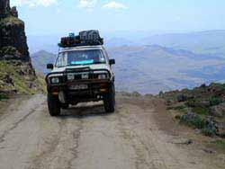 Lesotho - Overlanding up the Sani Pass